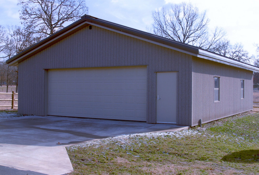 Concrete foundation requirements for steel building kits for Garage building kits canada